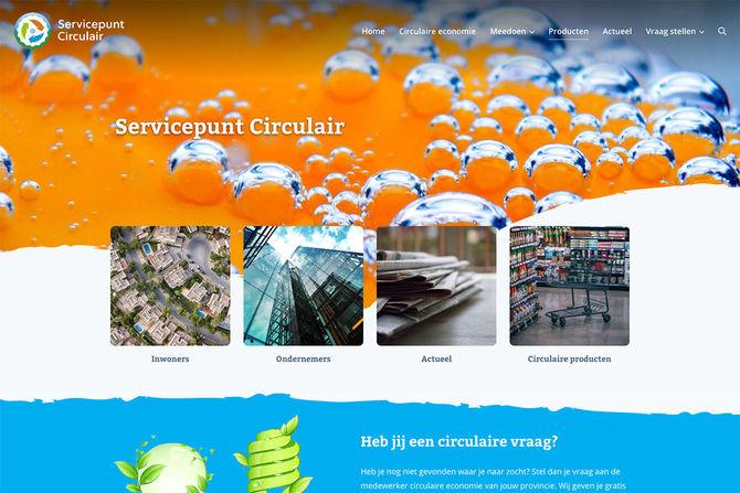 screenshot website Servicepunt Circulair