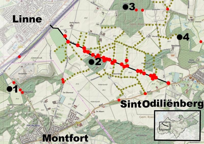 Kaartje Grote Bergerweg Roerdalen