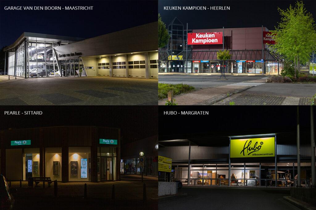 Voorbeelden van Limburgse bedrijven die onnodig verlichten
